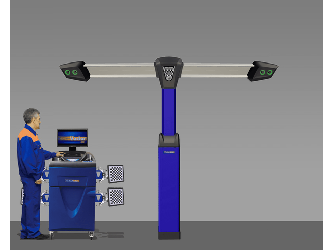 Техно Вектор 7 (V 7204 T P) Стенд для сход-развала с технологией 3D Технокар Стенды сход-развал Автосервисное оборудование